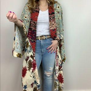 Boho Blooms Kimono Floral Print